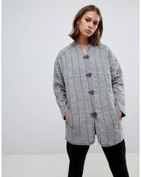 WÅVEN - Lykke Quilted Collarless Jacket - Lyst