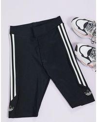 adidas Originals Черные Облегающие Шорты С Логотипом -черный