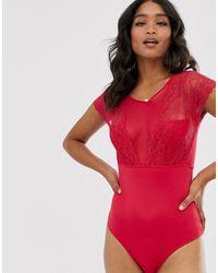 Vila Body escotado - Rojo