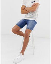 ASOS Spray On Denim Shorts - Blue