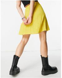 Y.A.S Желтая Легкая Мини-юбка Желтого Цвета В Горошек -многоцветный - Желтый