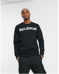 Religion Reflective Logo Sweatshirt - Black
