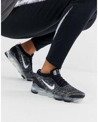 Nike Черные Кроссовки Vapormax Flyknit-черный