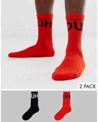 HUGO 2 Пары Носков С Большим Логотипом -мульти - Многоцветный
