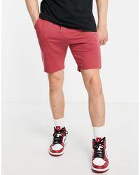 ASOS Pantaloncini skinny - Rosso