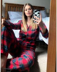 Lauren by Ralph Lauren - Notch Collar Pyjama Set - Lyst