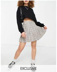 Reclaimed (vintage) Inspired Tennis Skirt - Multicolour