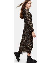 TOPSHOP Трикотажное Платье Миди С Многоцветным Рисунком -многоцветный - Черный
