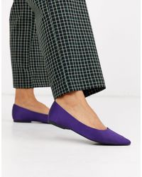 ASOS Lucky Pointed Ballet Flats - Purple
