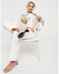 & Other Stories Bold Sleeve Cropped Trench - Natural