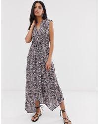 AllSaints Tate Misra Snake Print Maxi Dress - Pink