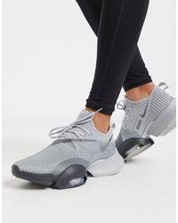 Nike Chaussure d'entraînement fractionné haute intensité Air Zoom SuperRep pour - Gris