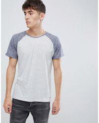 Esprit - Raglan T-shirt With Contrast Sleeve - Lyst
