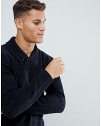 French Connection Shawl Neck Sweater - Blue
