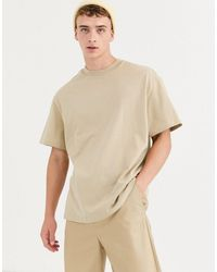 Weekday Relaxed Fit T-shirt In Beige - Natural