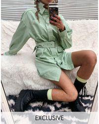Collusion Зеленое Платье-рубашка Мини -зеленый