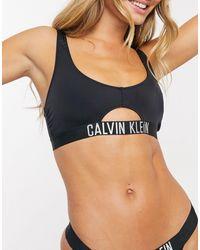 Calvin Klein Черный Бикини-топ С Вырезом
