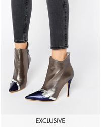 Terry De Havilland - Pixie Silver Heeled Ankle Boots - Lyst