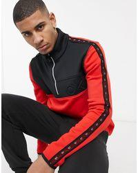 Calvin Klein Красный Топ С Воротником На Молнии Denali
