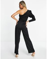 AX Paris One-shoulder Jumpsuit - Black