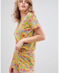 ASOS - Asos Tropical Fruity Tee & Short Pyjama Set - Lyst