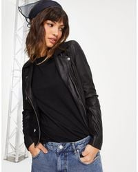 Y.A.S Sophie Soft Leather Jacket - Black