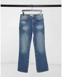 ASOS Vaqueros boot-cut con lavado azul medio