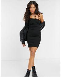 NA-KD - Черное Облегающее Платье Мини На Одно Плечо -черный Цвет - Lyst