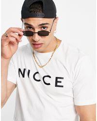 Nicce London T-shirt bianca con logo - Bianco