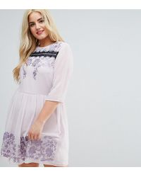 ASOS - Premium Eyelash Lace Mini Dress With Embroidery - Lyst