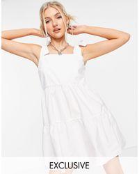 Stradivarius Bunny Strap Mini Dress - White