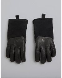 The North Face - Leather Il Solo Gloves In Black - Lyst