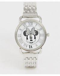 Disney Minnie Mouse - Armbandhorloge Voor Dames In Zilver - Metallic