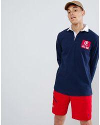 Polo Ralph Lauren CP-93 Capsule - Polo de rugby manches longues avec appliqué au dos - Bleu marine