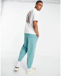 Pull&Bear Pull & Bear Tshirt With Art Back Print - White
