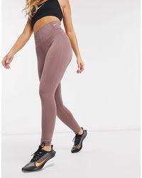 Nike Leggings sculptant - Mauve - Violet