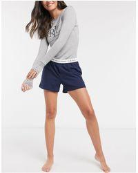 Lauren by Ralph Lauren Logo Boxer Lounge Shorts - Blue
