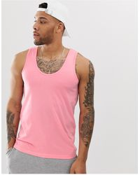 ASOS Camiseta sin mangas orgánica en rosa