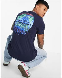 Friend or Faux Extintion - T-shirt blu navy con stampa - Bianco