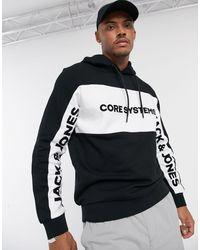Jack & Jones Core - Hoodie Met Logo - Zwart