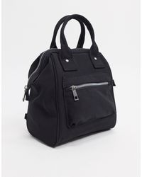 ASOS Backpack With Top Handle - Black