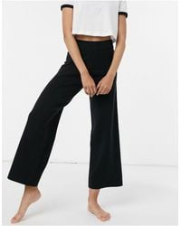 ASOS Mix & Match Lounge Premium Knitted Straight Leg Trouser - Black