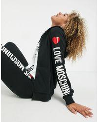 Love Moschino Худи Черного Цвета С Капюшоном И Логотипом Сбоку -черный