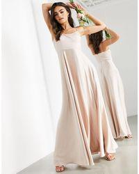 ASOS Vestito lungo con spalline sottili - Rosa
