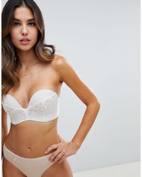 Wonderbra Refined Glamour Ultimate Strapless Lace Bra A - G Cup - Natural