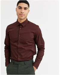 Rudie Long Sleeve Oxford Shirt - Red