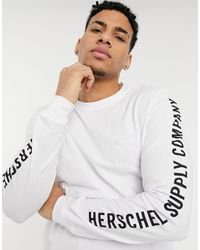 Herschel Supply Co. Arm Print Long Sleeve T-shirt - White