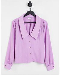 Noisy May Ceren - camicia a maniche lunghe con colletto - Viola