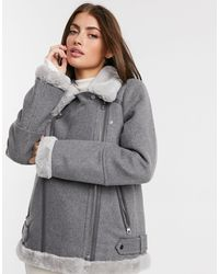 Vero Moda Aviator Jacket - Grey