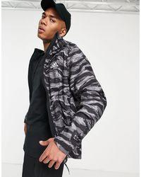 adidas Originals - Черная Куртка-дождевик С Тигровым Камуфляжным Принтом Adidas Outdoors Terrex-черный Цвет - Lyst